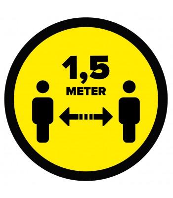 1,5 meter afstand