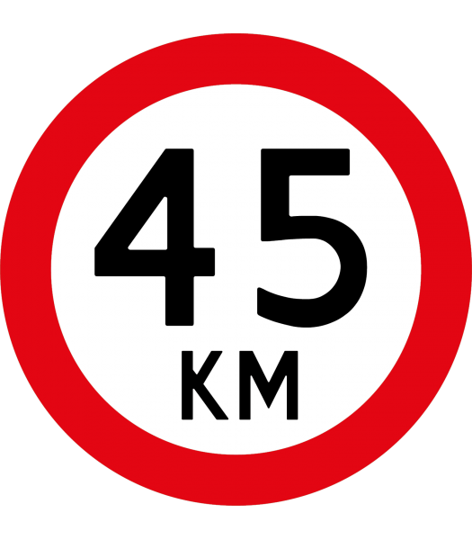 45 km - Pictogrammen