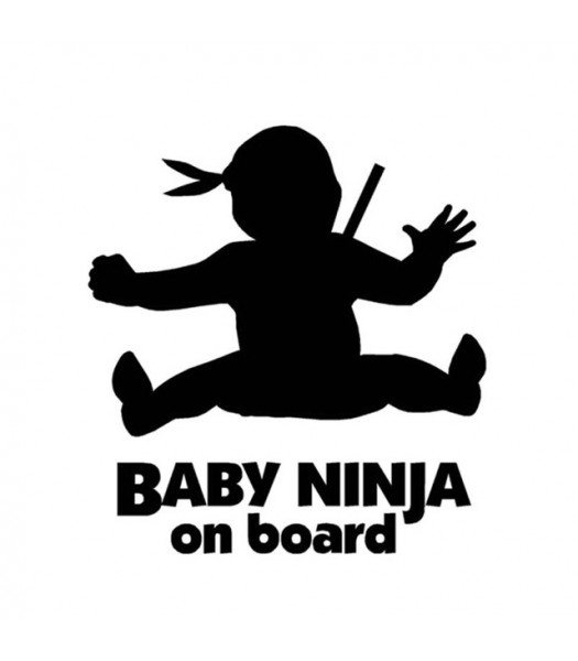 Baby ninja on board - Funlogo's