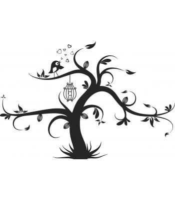 Bird in tree - Dieren & Natuur