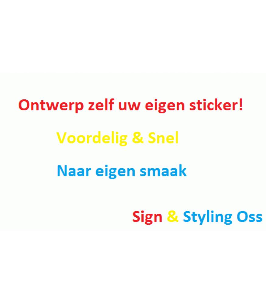 Tassen Eigen Ontwerp : Eigen ontwerp sticker kopen sign styling oss
