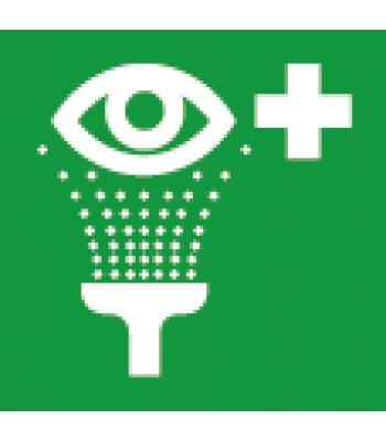 Evacuatie oogdouche