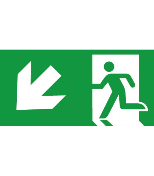 Evacuatie pijl Linksonder - Pictogrammen