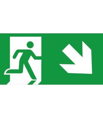Evacuatie pijl Rechtsonder