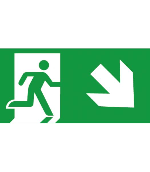Evacuatie pijl Rechtsonder - Pictogrammen
