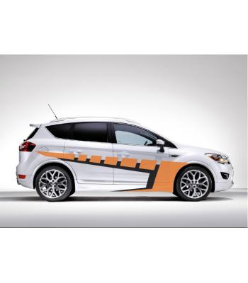 Ford Orange Black set