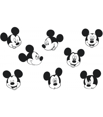 Mickey Mouse stickervel