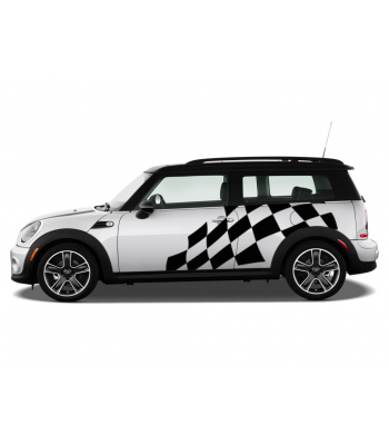 Mini Cooper Finishvlag set