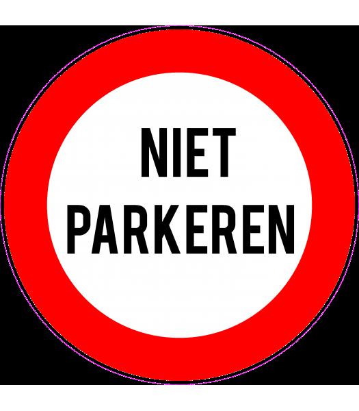 Niet parkeren - Pictogrammen