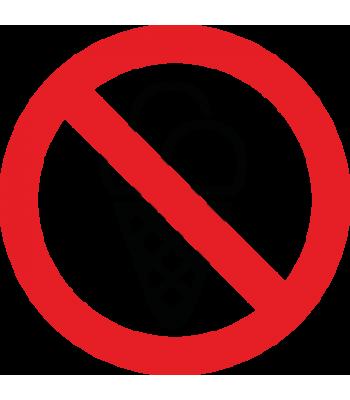 Verboden voor ijs - Pictogrammen